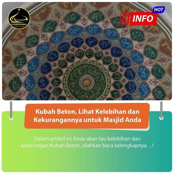 Kubah Beton, Lihat Kelebihan dan Kekurangannya untuk Masjid Anda