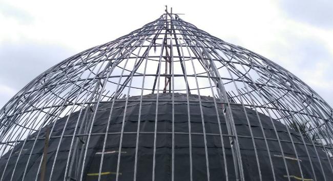 Struktur Beton Kubah Masjid